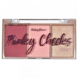 Paleta de Blush Pinky Cheeks ruby Rose Cor 1