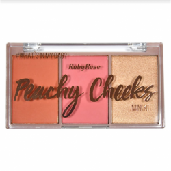 Paleta de Blush Peachy Cheeks Ruby Rose Cor 3
