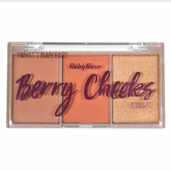 Paleta de Blush Berry Cheeks Ruby Rose Cor 4